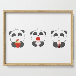 Hungry Pandas Serving Tray