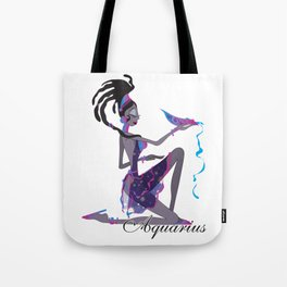 Starlight Aquarius Tote Bag