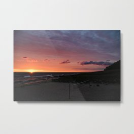 Lakefront Sunset Metal Print
