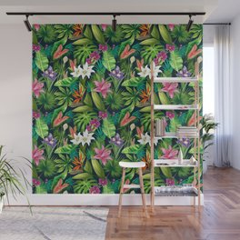 Tropical Lush Sanctuary, A Bohemian Paradise Wall Mural