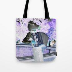 Unicorn Plays The Polka Tote Bag