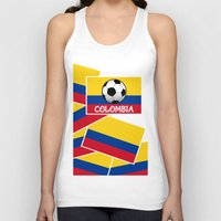 colombia Tank Tops featuring Colombia Football by mailboxdisco