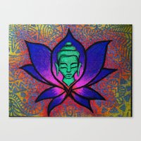 namaste Canvas Prints featuring Namaste. by Gabrielle Wall