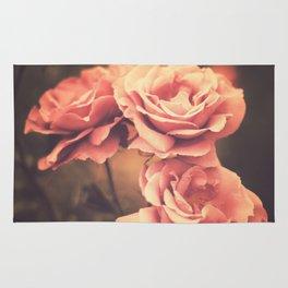 Three Pink Roses (Vintage Flower Photography) Rug