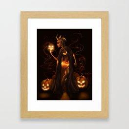 The Pumpkin Queen Framed Art Print