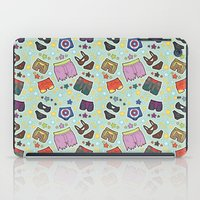 super heroes iPad Cases featuring kinky super heroes by Audrey Molinatti