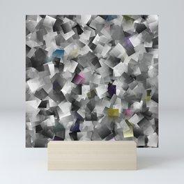 abstract metal pattern Mini Art Print