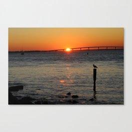 Boating Sunset-Landscape Canvas Print