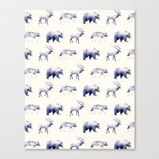Wild Pattern // Blue Canvas Print