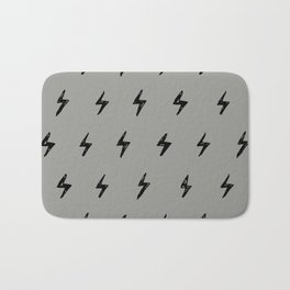 Gray & Black Lightening Bolt Pattern Bath Mat