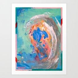 It Was A Big Wave Art Print