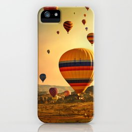 Hot Air Balloons at Sunrise in Cappadocia iPhone Case