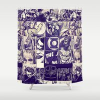 comic Shower Curtains featuring Comic Land by Ewan Arnolda