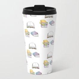 Books - Pastel Pattern Travel Mug