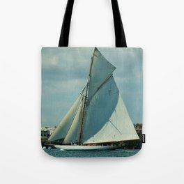 Classic Sailing Yacht Tote Bag