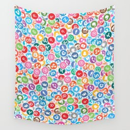 Social networks Wall Tapestry