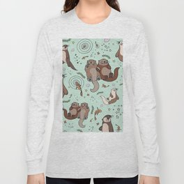 Sea Otters and Fish Long Sleeve T-shirt