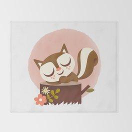 Sleeping Squrrel - Cute Animals Throw Blanket