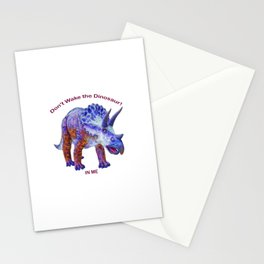 Don't Wake the Dinosaur! Stationery Cards