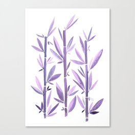 Purple Bamboo / Watercolor Botanical Canvas Print