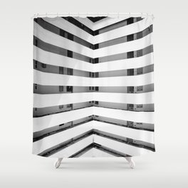 Folded Lines Shower Curtain