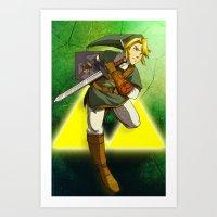 LINK - LEGEND OF ZELDA Art Print