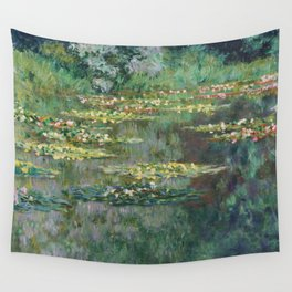 Water Lilies 1904 by Claude Monet Wall Tapestry