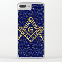 Freemasonry symbol Square and Compasses Clear iPhone Case