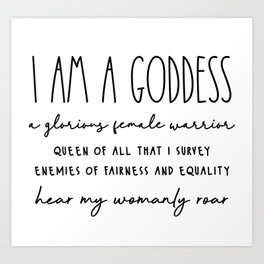 Goddess - Leslie Knope Art Print