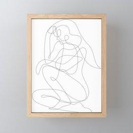 Thinking Woman Framed Mini Art Print