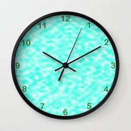 Mix of bleu-ciel & white Wall Clock