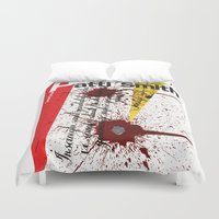 calligraphy Duvet Covers featuring Calligraphy 3 by omerfarukciftci