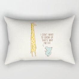 I don't want to grow up Rectangular Pillow