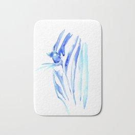 Blue Zebra Bath Mat