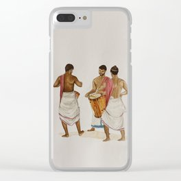 drum players in Allephey Clear iPhone Case