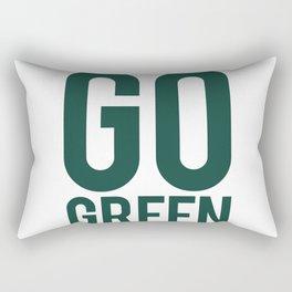 Go Green Football Rectangular Pillow