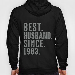 Best. Husband. Since. 1983 36th Wedding Anniversary for Him Hoody