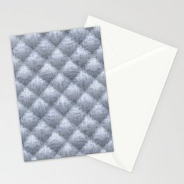 Quilted Soft Blue Velvety Pattern Stationery Cards