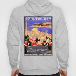 Vintage Simplon Orient Express London Constantinople Hoody