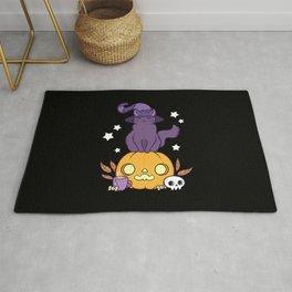 Pumpkin Cat // Black Rug