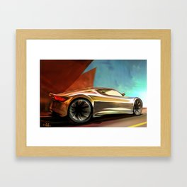 Concept Side View Framed Art Print
