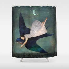 fly me to paris Shower Curtain