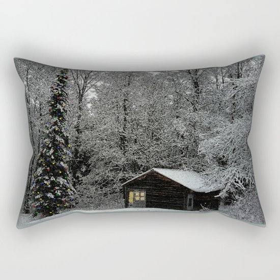 Winter Wonderland at Christmas  Rectangular Pillow