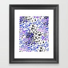 Purple splatters Framed Art Print