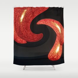 Reds The Chili Peppers Abstract Shower Curtain