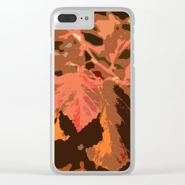 Abstract Fall Leaves Clear iPhone Case