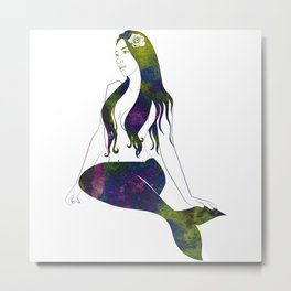 Abalone Mermaid Metal Print