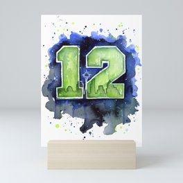Seattle 12th Man Art Mini Art Print