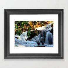Winter's Rush Framed Art Print