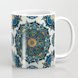 Mandala Blue and Gold Coffee Mug